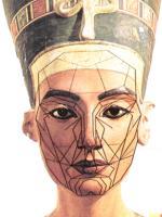 Nefertiti 1350 n Chr. Ägypten